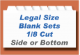Blank Legal Index Tab Sets - 1/8th cut<br> Imprintable