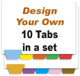 Design Your Own Index Tabs<br>10 Tabs per Set